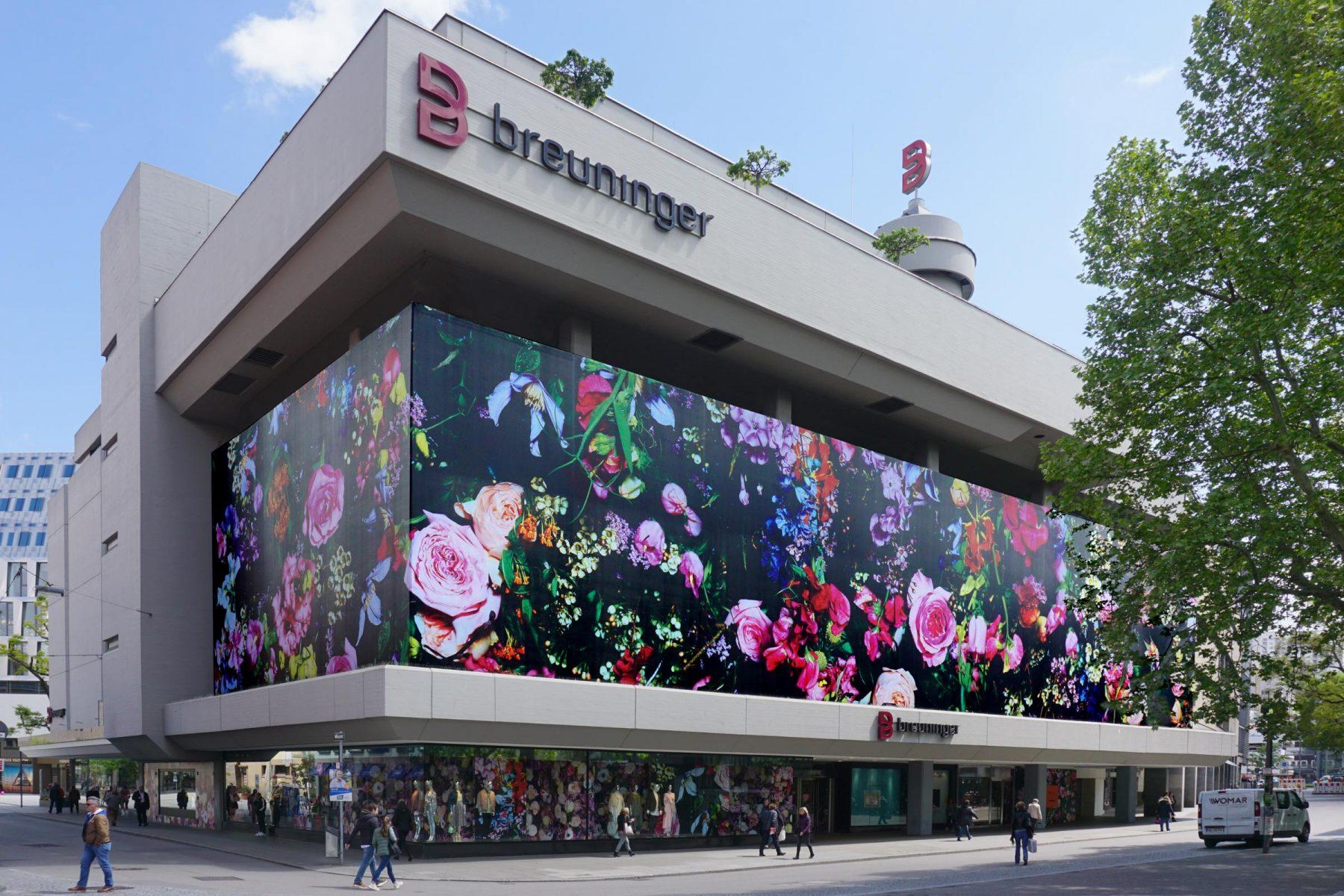 breuninger textilfassade