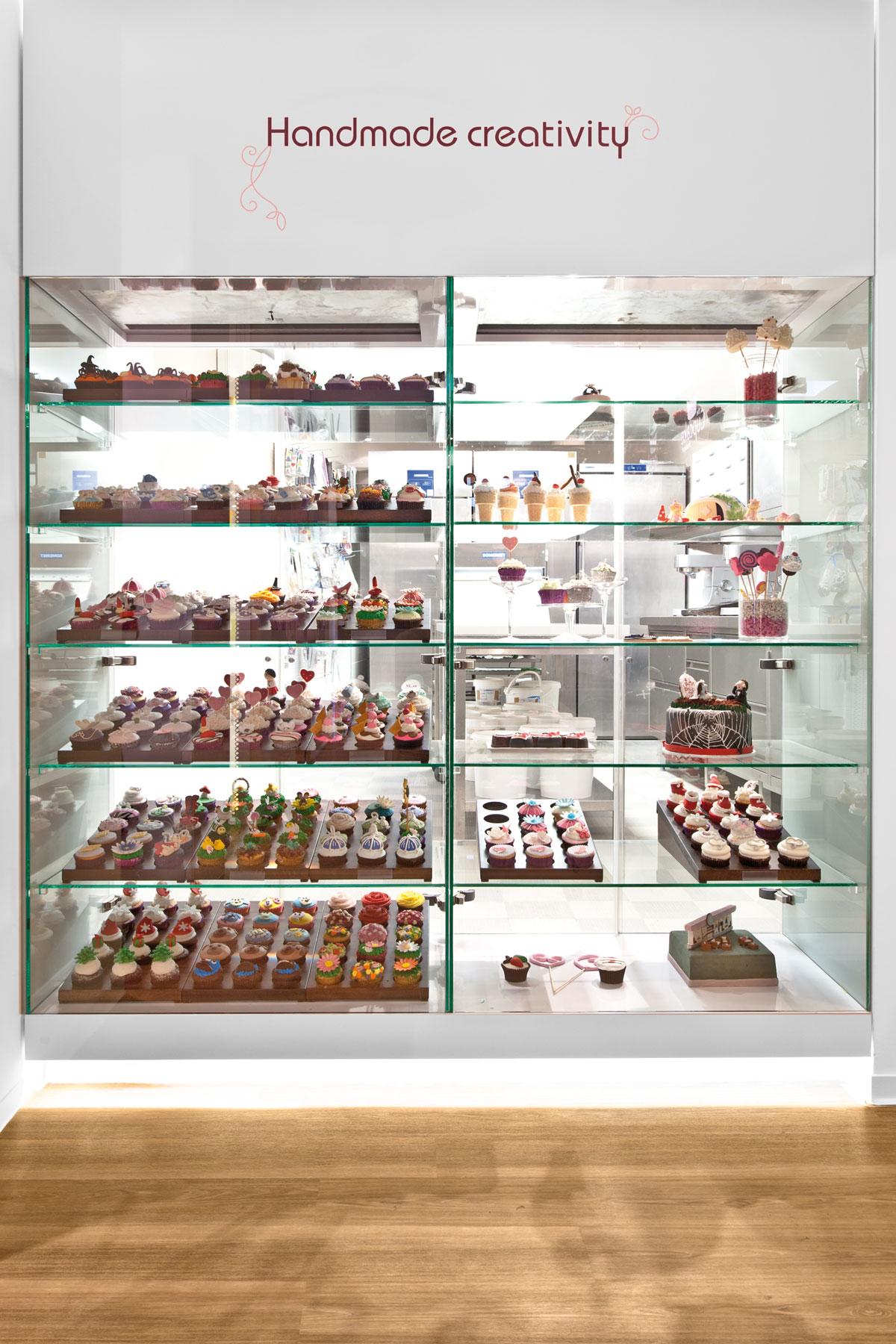 Cupcake Boutique, Vitrine
