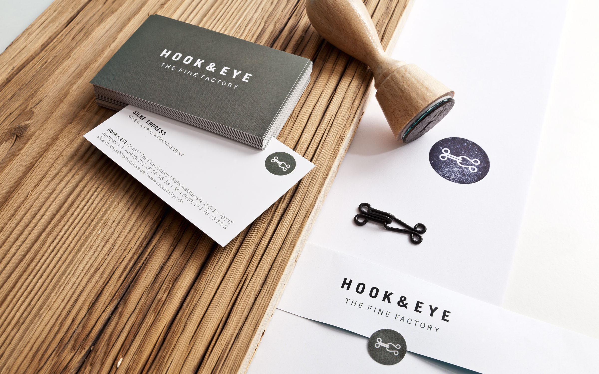 Hook and Eye, Corporate Design Detail