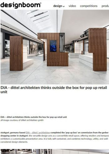 designboom online - pop up box
