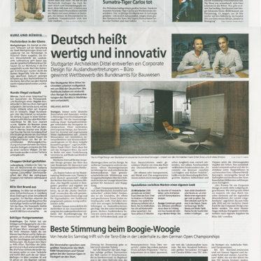 Südwest Presse, BRD, 08.11.15, Coverfoto