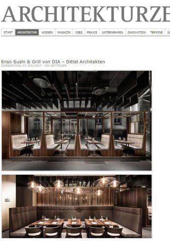 Architekturzeitung online - Enso Sushi & Grill