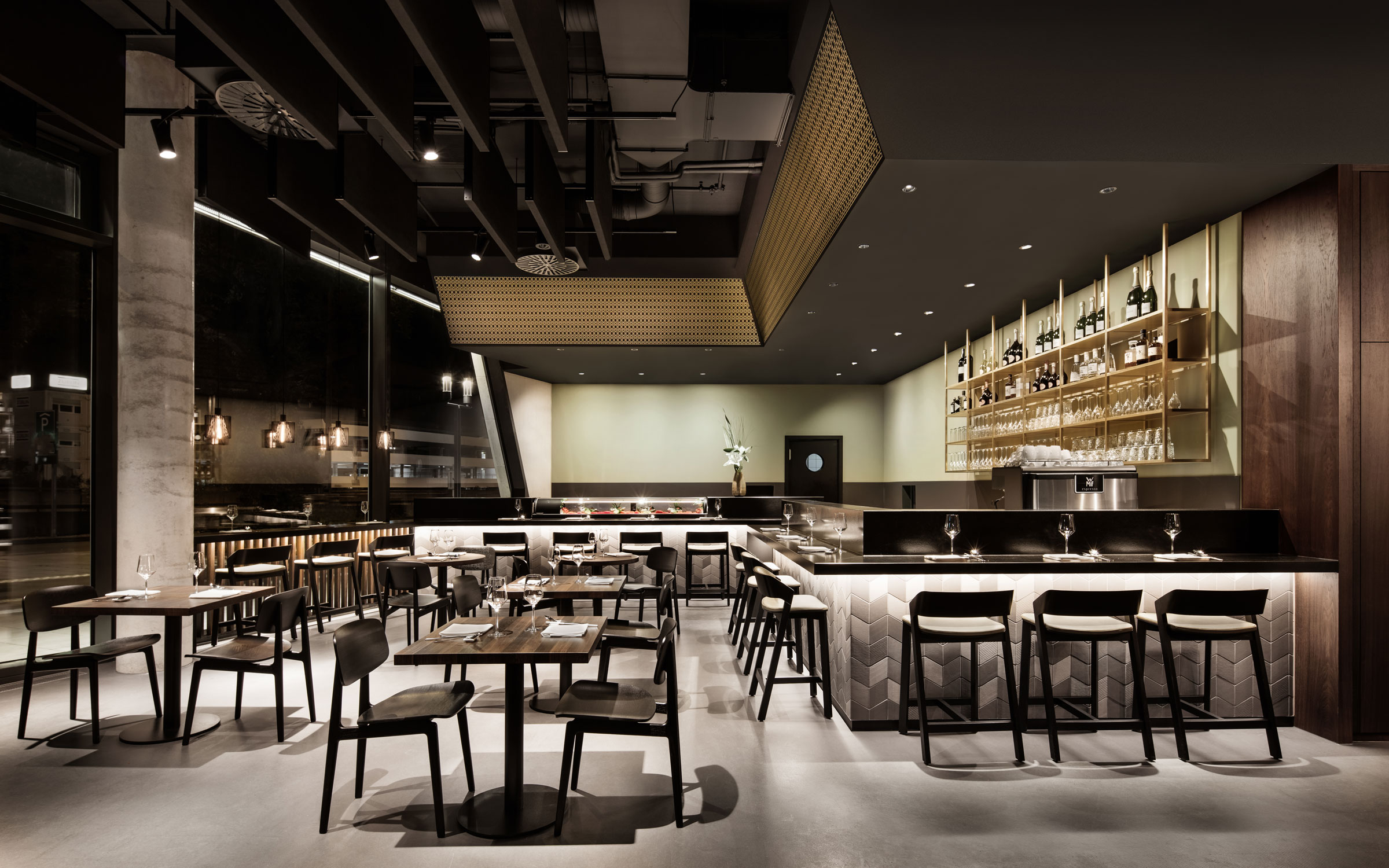 Enso sushi grill dia dittel architekten for Interior design house grill