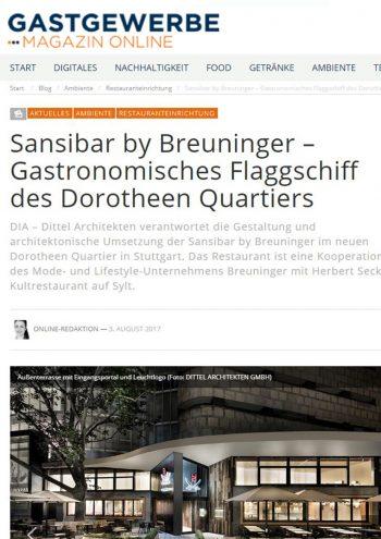 Gastgewerbe online - Sansibar by Breuninger Stuttgart