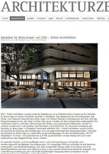 Architekturzeitung online - Sansibar by Breuninger