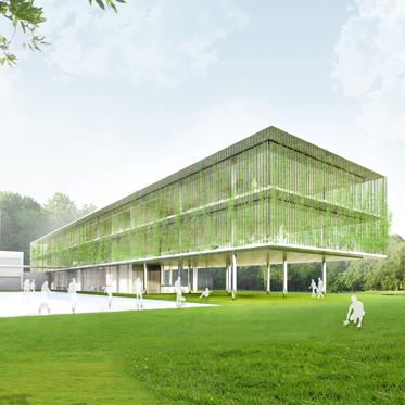 Neubau Bürogebäude - Rendering