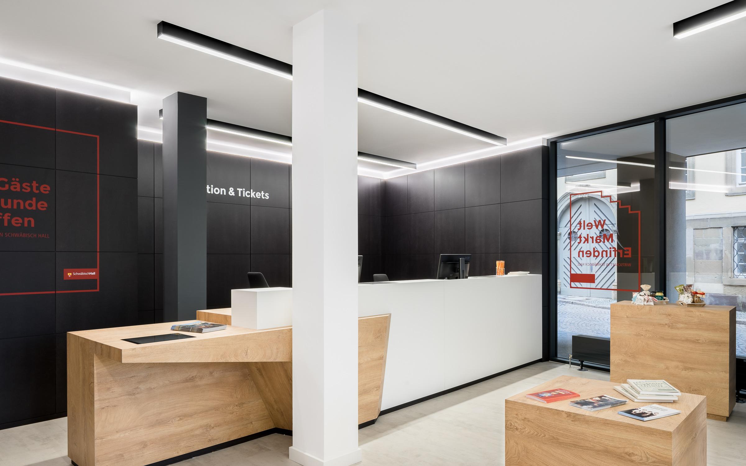Touristinformation, Schwäbisch Hall, Eingang Kasse, Foto: Daniel Vieser