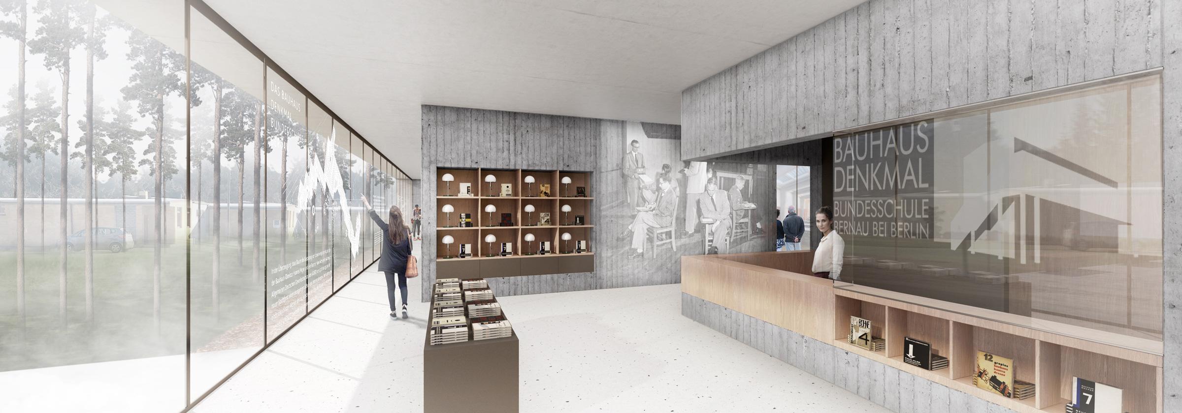 Interior view: Reception and shop area