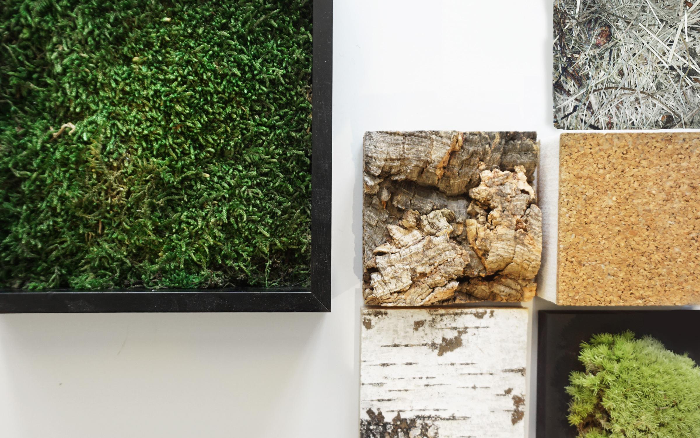 Naturmaterialen Collage