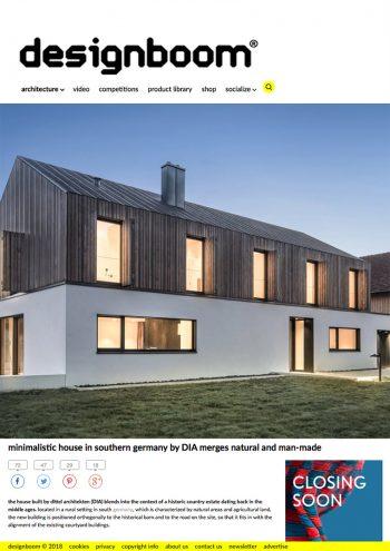 Presse, Cover designboom - neubau