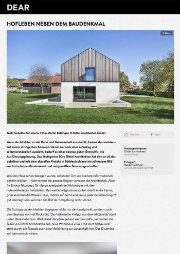 cover, dear magazine online, wohnhaus