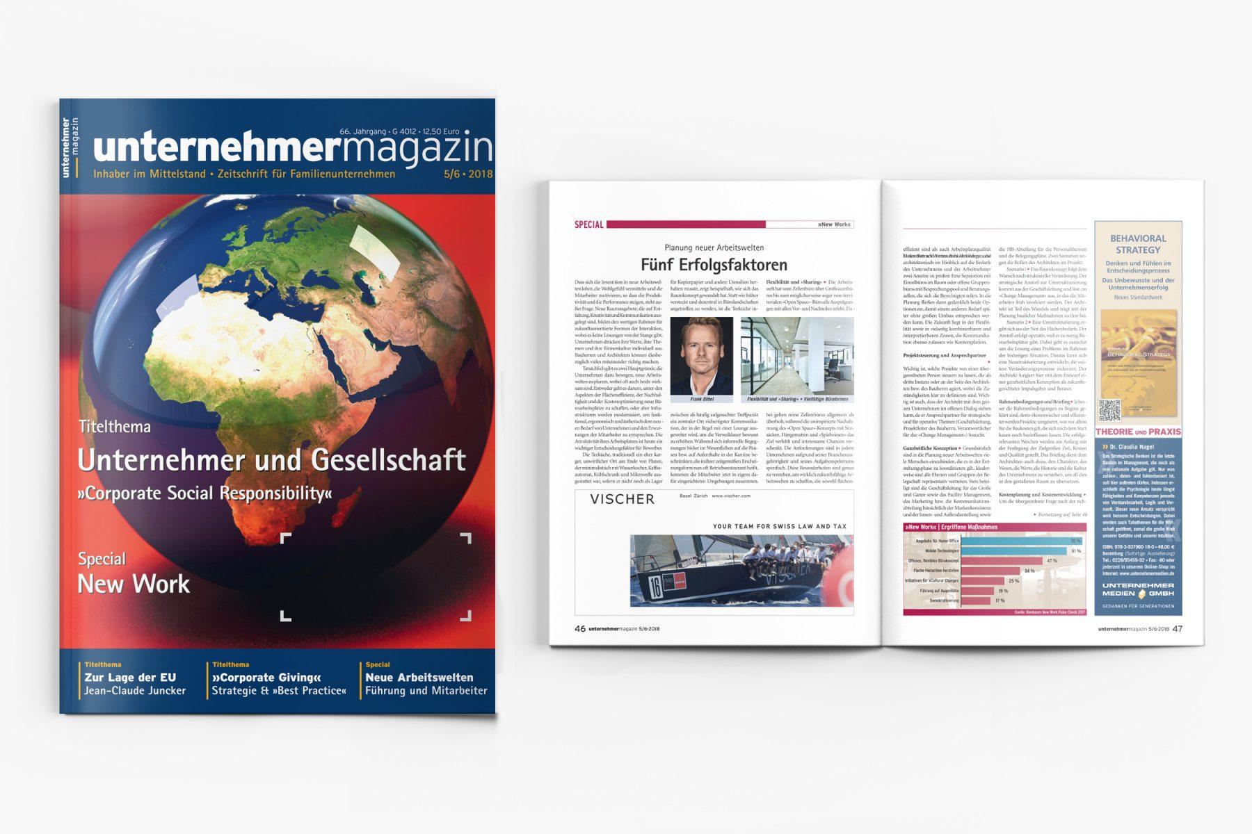 Presse Cover READ unternehmermagazin