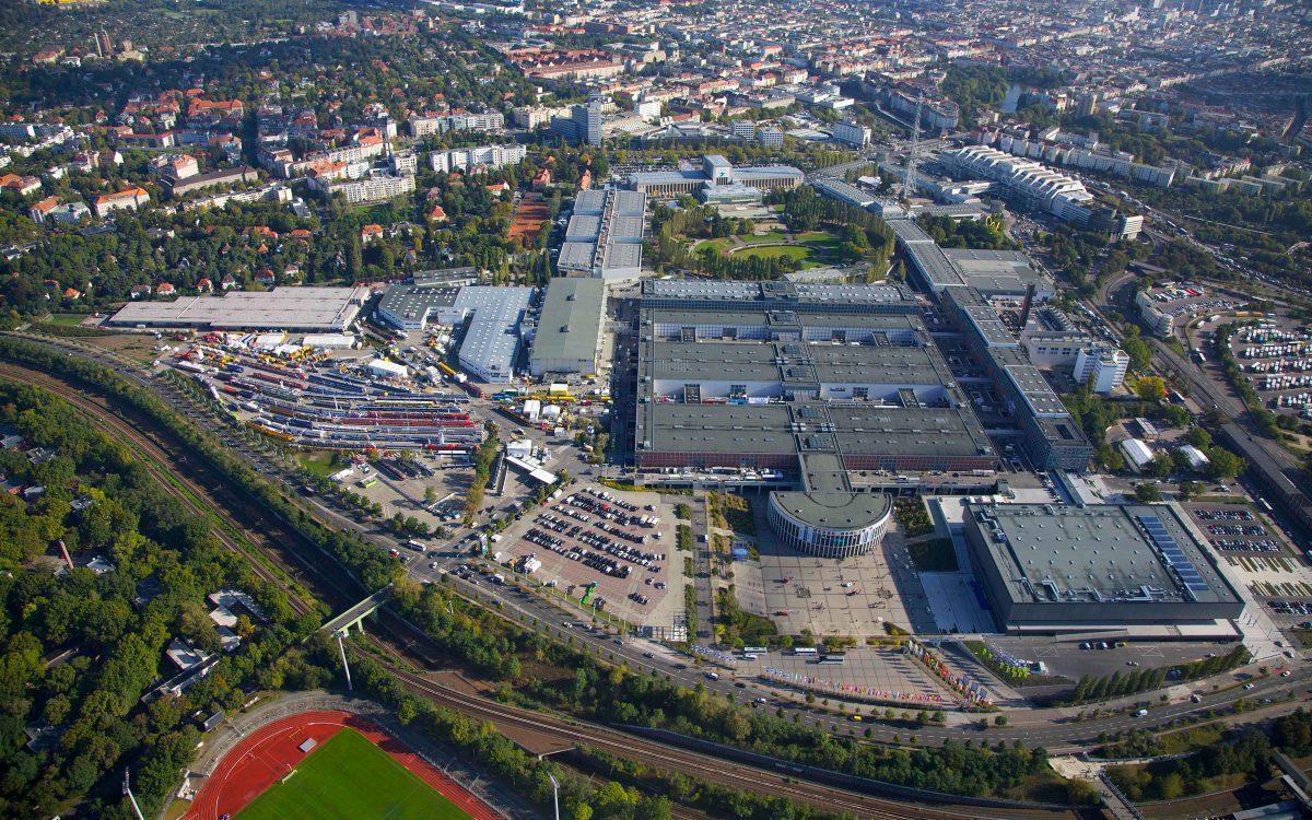 Mess Berlin, Luftaufnahme